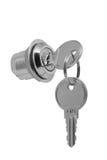 Fechamento pequeno do metal com duas chaves Foto de Stock Royalty Free