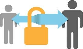 Fechamento seguro da segurança dos dados das comunicações seguras ilustração royalty free