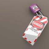 Fechamento Tagout fotografia de stock