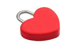 Fechamento vermelho Heart-shaped. fotografia de stock