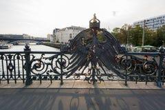 Fechamentos da águia e do amor da ponte de Weidendammer Fotos de Stock Royalty Free