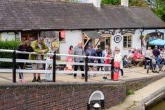 Fechamentos de Foxton no canal grande da união, Leicestershire, Reino Unido Fotografia de Stock Royalty Free