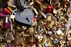 Fechamentos do amor Fotografia de Stock