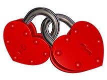 Fechamentos do amor ilustração do vetor