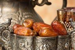 Fechas en el tiempo del Ramadán Imagen de archivo libre de regalías