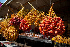 Fechas frescas en el mercado de Jericho Fotos de archivo