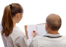 Fechas que se encuentran entre los doctores Imagen de archivo libre de regalías
