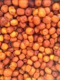 Fechas rojas chinas secadas Foto de archivo libre de regalías