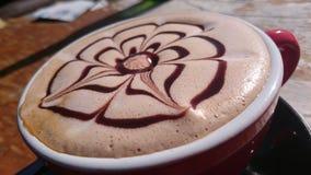 Feche acima da arte do latte Foto de Stock Royalty Free