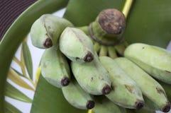Feche acima da banana verde Fotografia de Stock