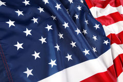 Feche acima da bandeira americana Fotografia de Stock Royalty Free