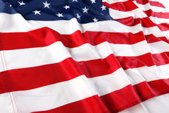 Feche acima da bandeira americana Fotos de Stock
