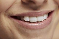 Feche acima da boca de sorriso Imagens de Stock