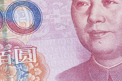 Feche acima da cédula de 100 RMB Imagens de Stock