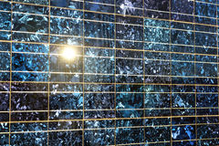 Feche acima da célula solar Imagem de Stock