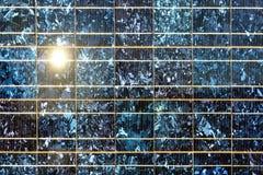 Feche acima da célula solar Fotografia de Stock