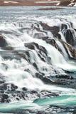 Feche acima da cachoeira de Gullfoss em Islândia fotografia de stock royalty free