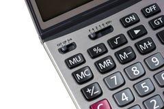 Feche acima da calculadora no isolada Imagens de Stock Royalty Free