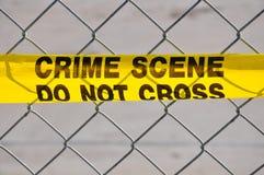 Feche acima da cena do crime não se cruzam Foto de Stock Royalty Free