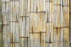 Feche acima da cerca de bambu Fotos de Stock