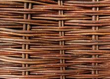 Feche acima da cerca tecida do salgueiro Fotos de Stock Royalty Free