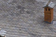 Feche acima da chaminé no telhado Imagem de Stock