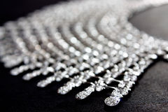 Feche acima da colar de diamante Fotografia de Stock Royalty Free