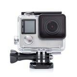 Feche acima da cor disparada de uma câmera pequena da ação Fotos de Stock Royalty Free