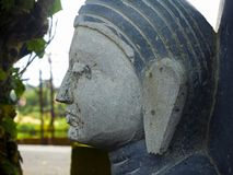 Feche acima da escultura Budha imagens de stock
