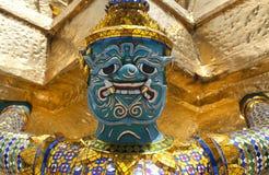 Feche acima da estátua do guardião Foto de Stock Royalty Free