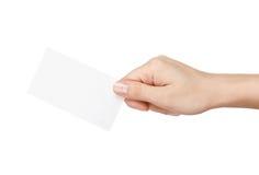 Cartão vazio à disposição imagem de stock royalty free
