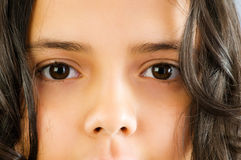 Feche acima da face bonita da menina Imagens de Stock Royalty Free