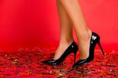 Feche acima da foto colhida do ch perfeito ideal elegante brilhante à moda fotos de stock royalty free