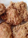 Feche acima da galinha fritada Fotos de Stock Royalty Free