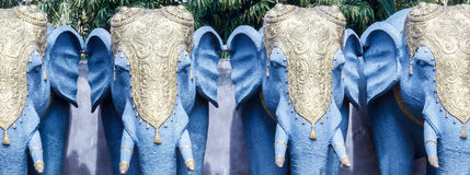 Feche acima da ideia da escultura do elefante, ECR, Chennai, Tamilnadu, Índia, o 29 de janeiro de 2017 Imagem de Stock