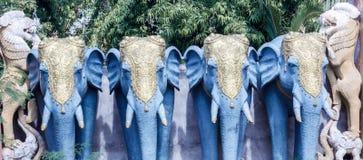 Feche acima da ideia da escultura do elefante, ECR, Chennai, Tamilnadu, Índia, o 29 de janeiro de 2017 Imagem de Stock Royalty Free
