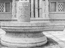 Feche acima da ideia da escultura do lingam do shiva, ECR, Chennai, Tamilnadu, Índia, o 29 de janeiro de 2017 Fotografia de Stock