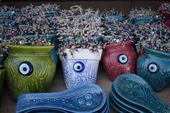 Feche acima da ideia de objetos decorativos, decorativos Fotografia de Stock