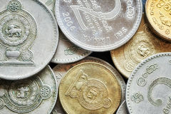 Feche acima da imagem da rupia cingalesa Fotografia de Stock