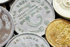 Feche acima da imagem da rupia cingalesa Imagens de Stock Royalty Free