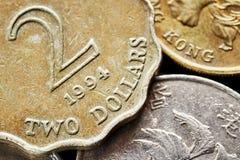 Feche acima da imagem do dólar de Hong Kong Fotos de Stock