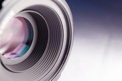 Feche acima da lente de câmera Imagens de Stock Royalty Free