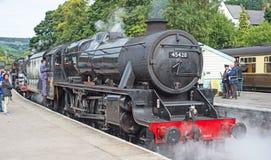 Feche acima da locomotiva de vapor Fotografia de Stock