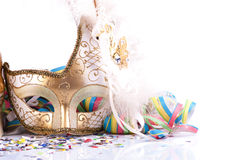 Feche acima da máscara do carnaval imagens de stock royalty free