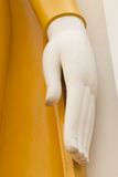 Feche acima da mão da Buda da estátua Fotos de Stock