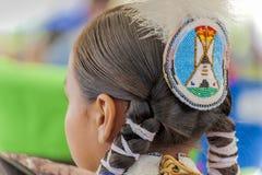 Feche acima da mantilha no nativo americano imagem de stock royalty free