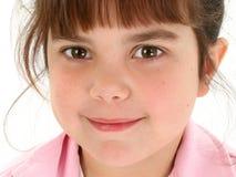 Feche acima da menina idosa de cinco anos bonita Fotografia de Stock Royalty Free