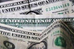 Feche acima da moeda do Estados Unidos da América foto de stock