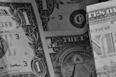 Feche acima da moeda do Estados Unidos da América fotografia de stock royalty free