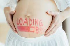 Feche acima da mulher gravida Imagem de Stock Royalty Free